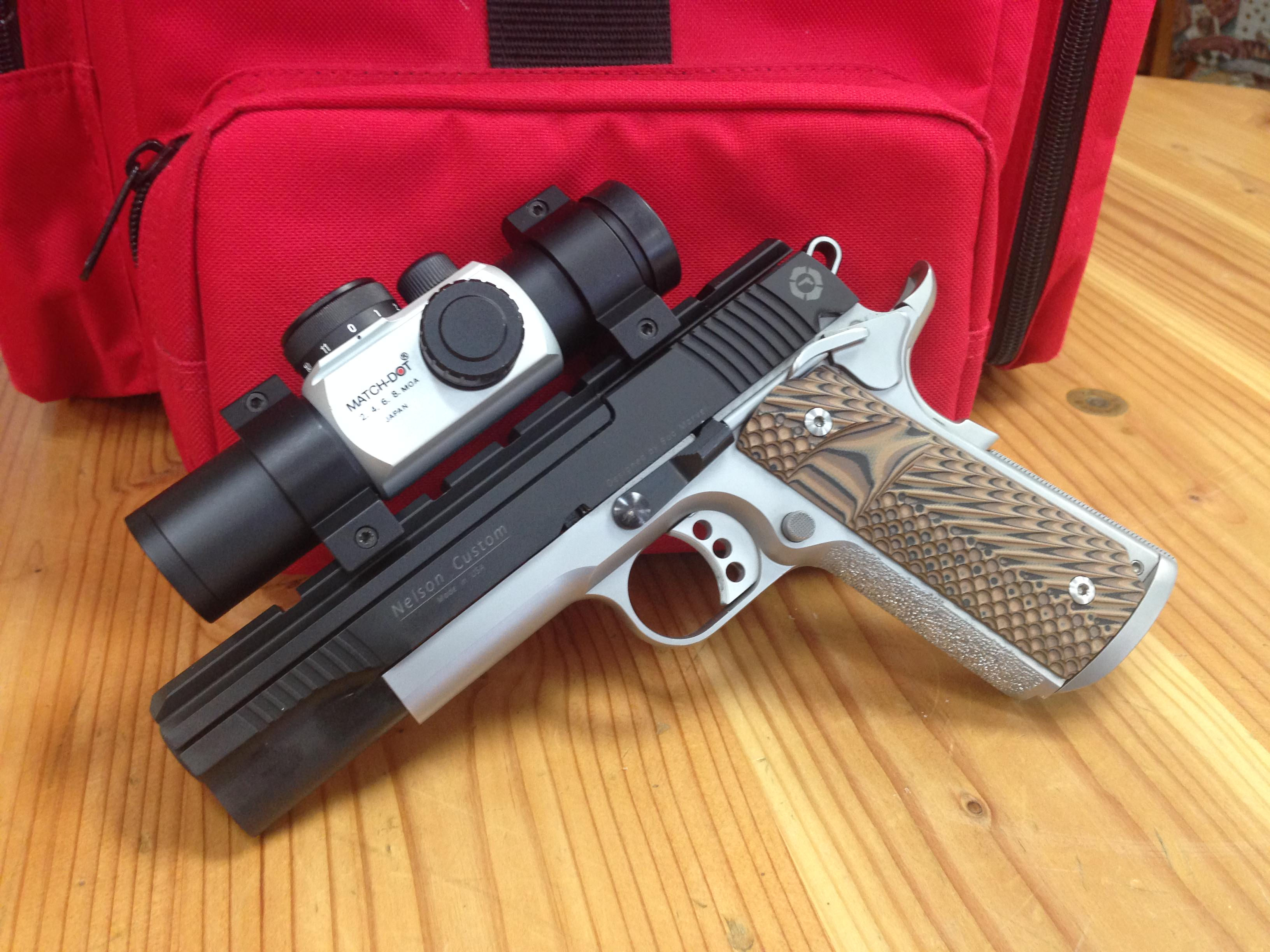 A 1911 with a dot sight